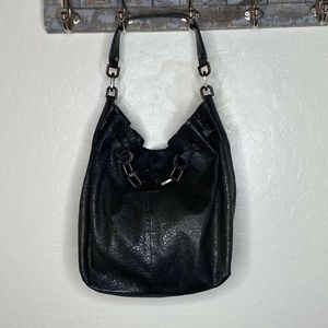 Tory Burch Embossed Leather Bucket Shoulder Bag